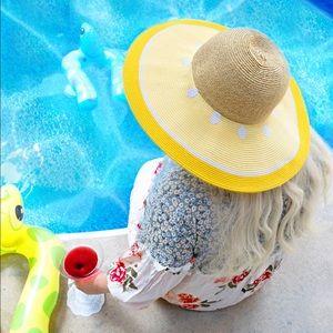 Accessories - Lemon floppy sun hat